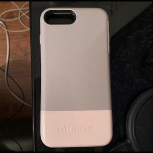 iPhone 7/8 PLUS Pink & Gray Otterbox Case